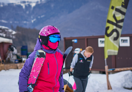 snowboarder in outfit