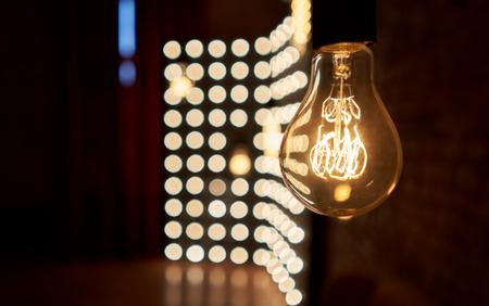 incandescent bulb on black background