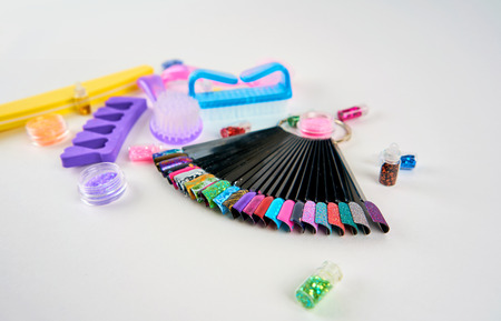 manicure tools on a white background 写真素材