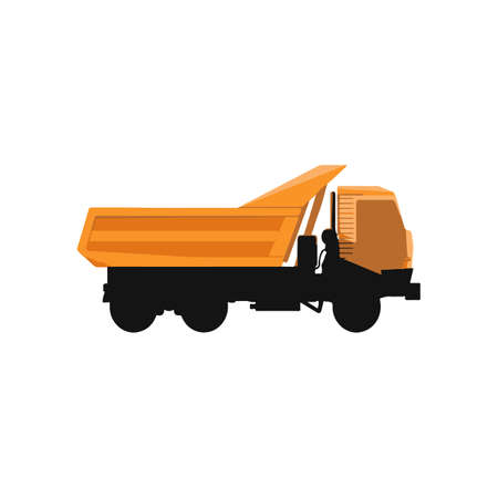 hauling: Vector illustration of truck on white background