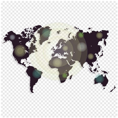 americas: World map isolated on white background. Worldmap template for website, design, cover, annual reports, infographics. Vector illustration.