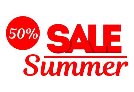 Sale banner. Special offer, big sale, discount up to 50 off. Vector illustration.