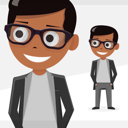 hair style: Avatar boy, vector illustration, isolated objects. For modern websites and mobile app. Illustration