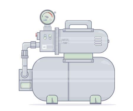 Water pump icon. Illustration