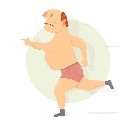 homme ivre dans une rage court et menace avec un doigt