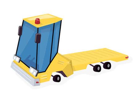 Yellow truck. Illustration