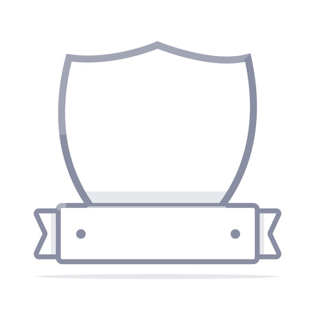 Simple security logo. Minimalistic design.