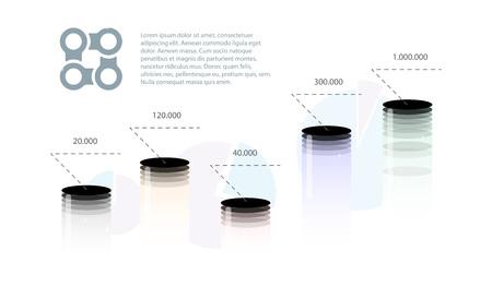 Techno logo. Infographic. Schedule of sales, volume.