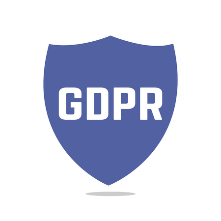 GDPR - General Data Protection Regulation. Icon european data security concept. Security technology.