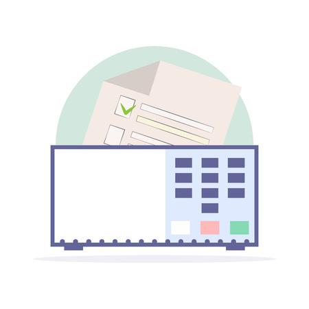 Electronic urn. Brazil election 2018. Electoral form.  Vector illustration. Illustration