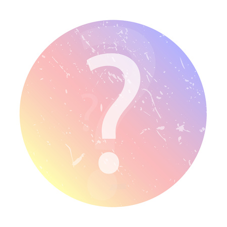 Question icon, social network avatar. Colorful smooth gradient color background.