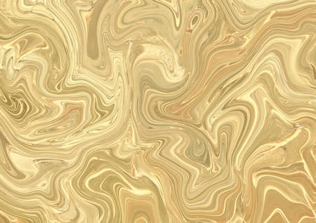 Abstract golden texture background. Art aureate wallpaper. Artistic psychedelic gold marble artwork. Colorful digital painting. Stock. Big size pictorial art. Good as pattern for design posters, cards, invitations or websites. Imagens