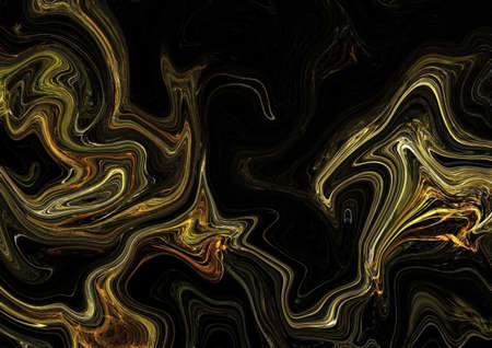Abstract golden texture background. Art aureate wallpaper. Artistic psychedelic gold marble artwork. Colorful digital painting. Stock. Big size pictorial art. Good as pattern for design posters, cards, invitations or websites. 免版税图像