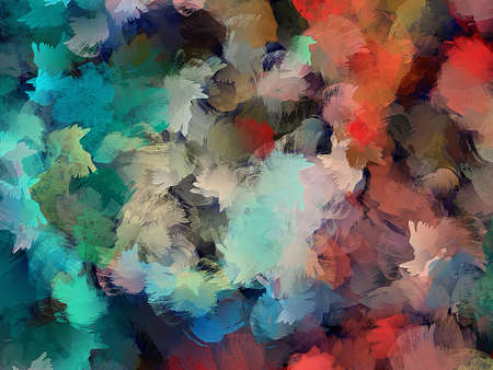 Hand drawn abstract background template for flyer, poster, banner, invitation, business cards and other printed matter. Creative pattern for graphic design production. Art painting wallpaper. Standard-Bild - 101997732