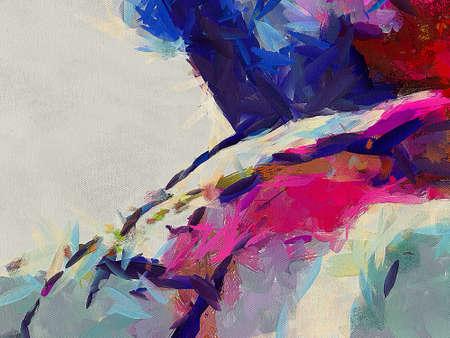 Hand getekend abstracte achtergrond sjabloon voor flyer, poster, banner, uitnodiging, visitekaartjes en ander drukwerk. Creatief patroon voor grafische ontwerpproductie. Kunst schilderij behang.