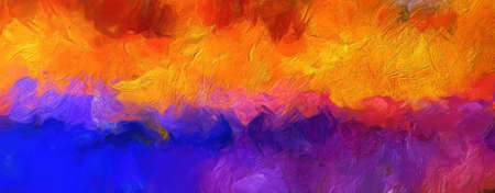 Impressionismus Wandkunstdruck. Ölgemälde im Vincent Van Gogh-Stil. Wirbel spritzt. Surrealismus Kunstwerk. Abstrakter künstlerischer Hintergrund. Echte Pinselstriche auf Leinwand.
