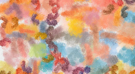 Abstract painting in oil background. Creative handmade drawing pattern. Splashes of paint on canvas. Visual fine art. Watercolor unique texture with acrylic elements. Pastel colors. Prints template.