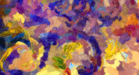Abstract painting. Impressionism style wall art. Canvas print. Modern surrealism art, hand drawn background. Good for printed pictures, postcards, posters or wallpapers and textile