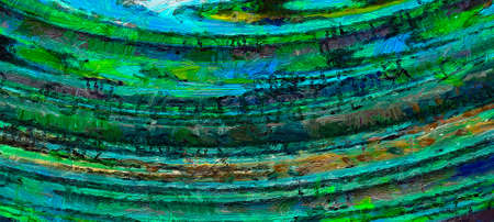 Digital art abstract pattern. Hand drawing modern style art print. Futuristic artwork. Contemporary painting wall decor. Oil on canvas. Brushstrokes of paint in warm colors. Psychedelic design texture 스톡 콘텐츠