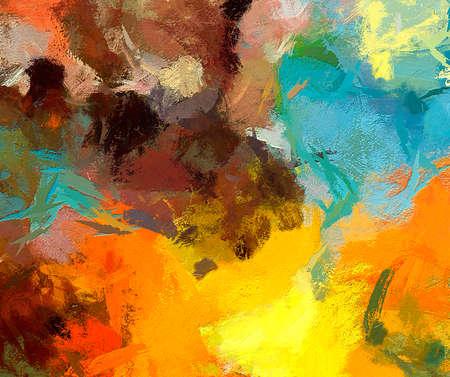 Abstracte tekening textuur met chaotische echte verf penseelstreken. Wall fine art print voor poster. Patroon voor webbanner of omslagontwerp. Decorachtergrond voor grafisch of drukwerk. Voorraad. Stockfoto