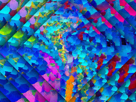 Fractal conceptual art. Abstract design pattern artwork. Graphic painting in modern style. Creative fashion decor for business cards, postcards, banners, invitations and other printed matter. Standard-Bild - 116240609