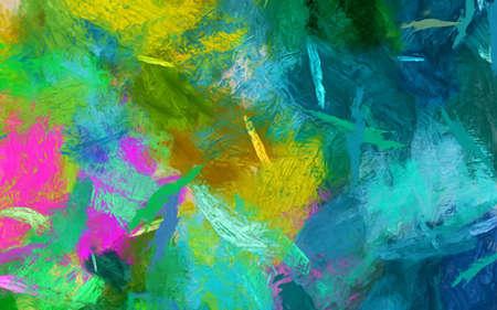 Abstrakter Impressionismus-Stil-Ölgemälde-Hintergrund. Wohnkultur Wandkunstdruck. Lager. Künstlerisches Muster für kreatives Banner-, Briefpapier-, Poster- oder Einladungsdesign. Zeitgenössische Modekunst.