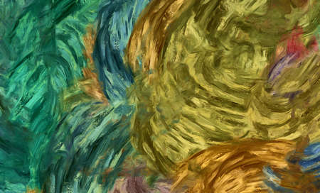 Abstract texture background. Digital painting in Vincent Van Gogh style artwork. Hand drawn artistic pattern. Modern art. Good for printed pictures, postcards, posters or wallpapers and textile print. Stock Photo