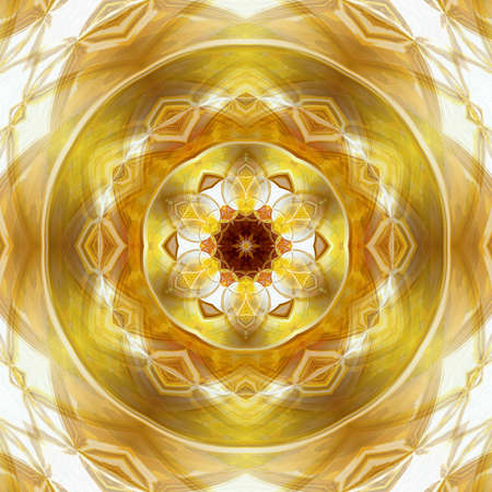 Creative golden graphic painting pattern with oil imitation effect. Luxury background for creating rich design cover, blank, web banner or card. Beautiful cool fractal art. Stock. Gold color artwork.