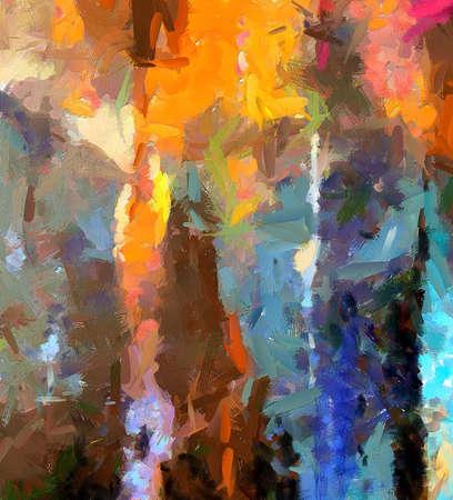 Abstrakte Malereikunst zu verkaufen. Lager. Handgezeichnet auf Leinwand. Mehrfarbiger künstlerischer Hintergrund. Muster für Design handgefertigte Druckproduktion. Kunstdruck für Leinwand oder Poster. Ungewöhnliche moderne Textur.