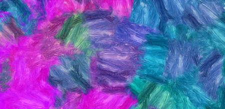 Cuadro impresionista abstracto en imitación estilo Vincent Van Gogh. Patrón de fondo de diseño artístico para la producción de impresión creativa artística. Póster de pared o plantilla de impresión de lienzo para decoración de interiores. Foto de archivo