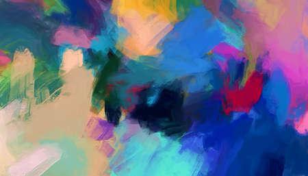 Fondo de arte abstracto. Estilo de pintura al óleo sobre lienzo. Textura de colores cálidos. Pinceladas de pintura suave. Arte Moderno. Impresión artística contemporánea. Plantilla para la decoración de productos de diseño. Decoración creativa.