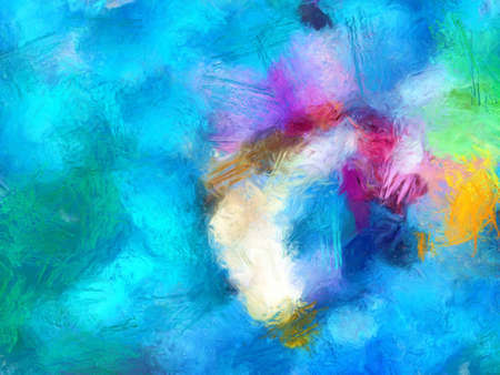 Disegno a pastello ad olio. Colore di sfondo astratto. Stampa d'arte. Astrazione in stile impressionista. Pittura moderna del surrealismo. Buono come poster da parete. Azione. Disegno surreale. Modello di struttura fatta a mano.