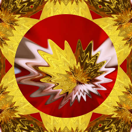 Abstract gold background. Fractal luxury art. Graphic painting golden artwork in oil imitation. Stock. Digital rich arabic texture. Wall art decor. Contemporary in modern style. 免版税图像