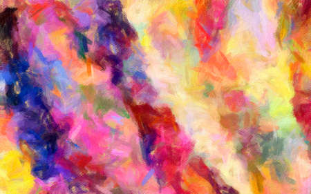 Fashion oil painting style abstract texture background, messy strokes and splashes on canvas