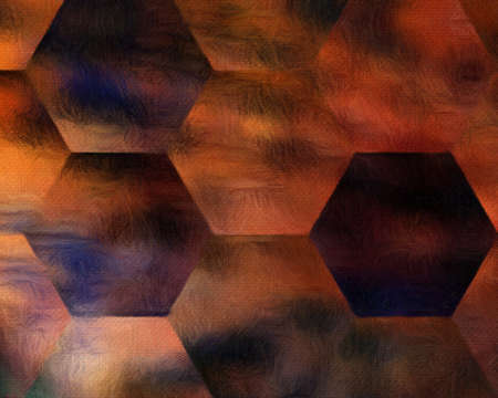Psychedelic visual art abstract design pattern background, good for decorate banner, flyer, textile and fabric, canvas and paper print, craft hand drawn texture template, surreal form in bright colors 写真素材 - 128485282
