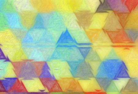 Psychedelic visual art abstract design pattern background, good for decorate banner, flyer, textile and fabric, canvas and paper print, craft hand drawn texture template, surreal form in bright colors