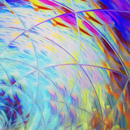 Psychedelic visual art abstract design pattern background, good for decorate banner, flyer, textile and fabric, canvas and paper print, craft hand drawn texture template, surreal form in bright colors 写真素材 - 128483584
