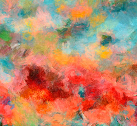 Colorful drawing abstract texture background in contemporary style, mixed media painting design backdrop, template for creating and decoration printable products as flyers, banners and web graphic Banco de Imagens