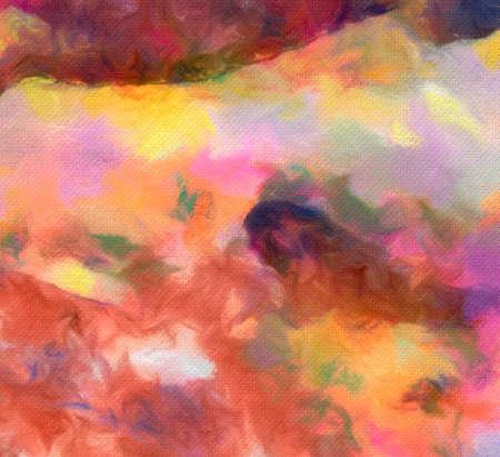 Fondo de textura de estilo de pintura al óleo. Abstracción dibujada a mano sobre lienzo. Manchas multicolores. Arte acrílico.