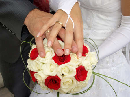 toge: Newly married Stock Photo