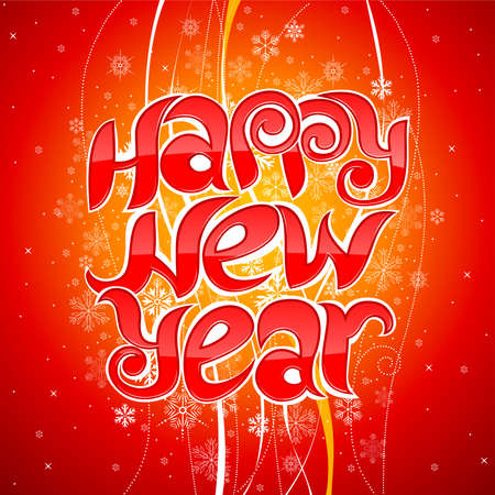 happy new year greeting inscription Vector