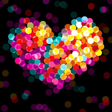 lite: colorful shining, bright heart