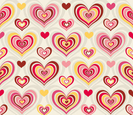 abstract background pattern with retro valentin hearts Vector