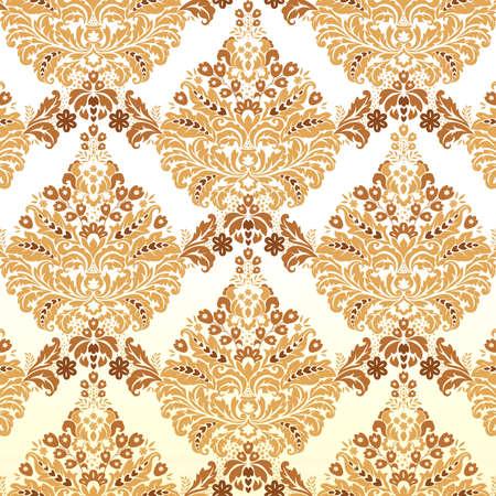 Seamless Damask background pattern. Vector illustration. Vector