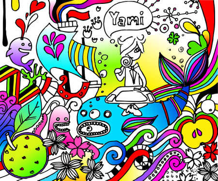 inner life and imagination of an artist Vector