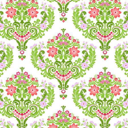 Seamless Damask floral pattern. Vector illustration. Vector