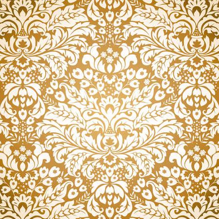 Seamless Damask background pattern. Vector illustration. Illustration