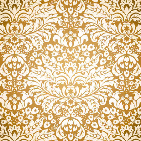 Seamless Damask background pattern. Vector illustration. Vector
