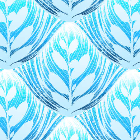 vector openworked leaf background. beautiful seamless pattern Vector