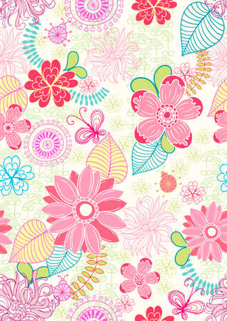 gentle: delicate seamless floral background pattern. Vector illustration.